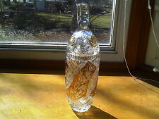 Gorgeous Bohemian Czech Amber-Gold to Clear Cut Crystal Vase with Lid ca.1920