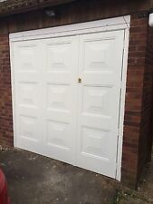 CHEAP EBAY DEAL fully installed white side hinged garage door and frame RRP£1096