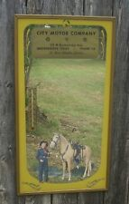 Vintage Advertising Mirror Thermometer Western Cowgirl & Horse~Vernon Co. Iowa