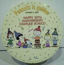 Peanuts Is Golden October 2 2000 Happy 50th Anniversary Charles Schulz Round Tin
