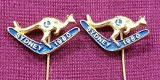 LIONS CLUB SKIPPY BADGE PINS WITH BOOMERANG SYDNEY 1980 LOT OF 2