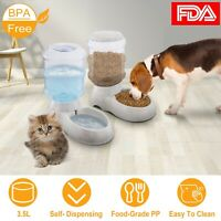 3.5L Pet Water Dispenser Fountain or Gravity Automatic Food Feeder For Cat Dog