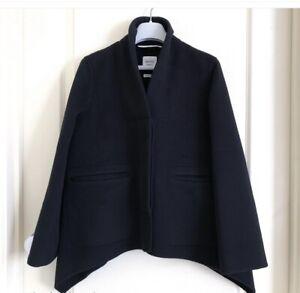 BNWT Hermes Double Cashmere Paletot Evase Jacket/Coat black size 34.