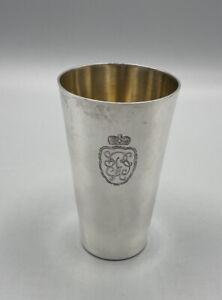 Becher 800 Silber Vergoldet Alt Antik Jugendstil 1924 10 cm Preis Bobrennen