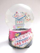 Las Vegas Snow Ball Welcome Sign Snowglobe Souvenir Nevada USA (928)
