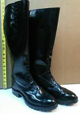 Size  13 EE  Men's Motorcycle Patrol Boots -with Extra Wide Calf up to 24 inches
