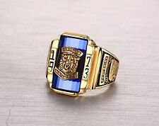 Multicolor Tiger Stainless Steel Ring Punk Party Band Accessories Size7-11