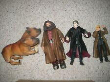 Set of 4 Harry Potter Character Figures incl Harry, Moody, Hagrid & Fluffy Vguc
