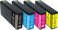 4Pk Reman Ink 676 T676XL for EPSON WORKFORCE PRO WP-4020 WP-4530 WP-4540
