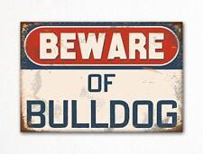 Beware of Bulldog Dog Breed Cute Fridge Magnet