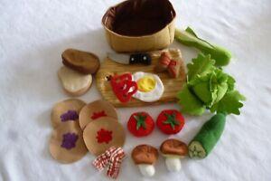 Ikea/HABA Kaufmannsladen / Puppenküche Gemüse/Obst / Schneidebrett aus Stoff