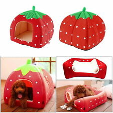 Washable Warm Bed Igloo House Soft Luxury Mat Basket For Pet Puppy Dog Cat _S