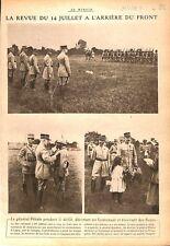 Revue du 14 Juillet Général Pétain à Lagny Médaille Poilus WWI 1917 ILLUSTRATION