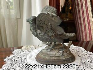 Bronze Spelter Bird Figurine