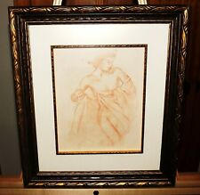 Bernard Picart 18th Century Old Master Antique Drawing in Sanguine, Sepia Chalk