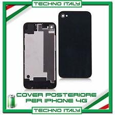 COVER SCOCCA VETRO POSTERIORE DI RICAMBIO PER iPHONE 4 4G NERO