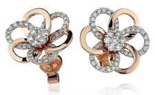 Diamond Daisy Earrings 0.75ct F VS in 18ct Rose Gold