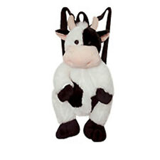 "Toddler Kids Plush Farm Animal Cow 14"" Backpack Bag Doll Toy 3+ NEW"