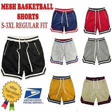 Men's Mesh Drawstring Basketball Shorts with Zippered Pockets