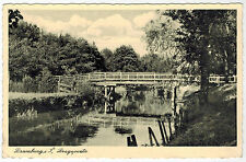 Bridge in Dramburg/Drawsko Pomorskie, Germany/Poland, 1939, German Fieldpost