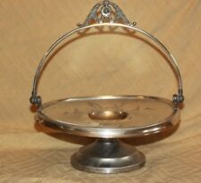 Antique Victorian Vanbergh Brides Basket Centerpiece Bowl Silverplate Dish