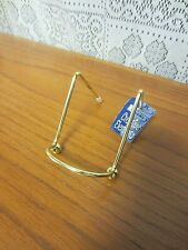 """NWT~2"""" Gold Metal Plate Photo Stand Display Easel"""