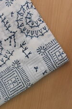 5 Yards Cotton Indian Fabric Geometric Print Hand Block printed fabric SSTH