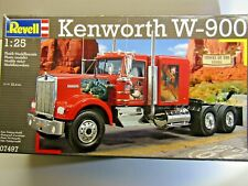 """Revell 1:25 Scale """"Trucks of the '80's"""" Kenworth W-900 Truck Model Kit # 07497"""