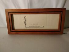 5 X 10 Cherry Wood Picture Frame by Steven B. Levine signed .