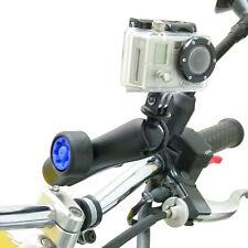 Motorcycle M* Handlebar Clamp & Long Security Pin-Lock Arm for GoPro Hero Camera