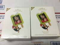 Lot of 2 Hallmark Ornament 2012 YOU'RE A STAR Photo Holder  Popsicle Christmas