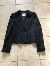 Cute Black Lightweight Virgin Wool Jacket From Lk Bennett Size 8