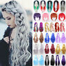 Womens Short/Long Hair Full Wig Natural Curly Wavy Straight Wigs Cosplay Costume