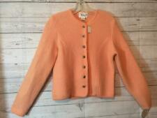 Vintage New With Tags Deans Of Scotland Size Med Jacket Peach Wool Button Front