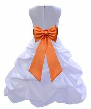 NWT WHITE COMMUNION BRIDESMAID PAGEANT BIRTHDAY WEDDING PARTY FLOWER GIRL DRESS