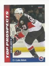 2010-11 AHL Top Prospects Luke Adam #1 (Adler Mannheim)