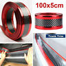 New Car Door Sill Scuff Plate Carbon Fiber Red Pedal Protector Strips Accessory