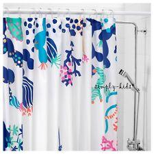 "IKEA Shower Curtains Ocean Fish Fabric Curtain Kids Bathroom Fun Lasjon 71x71"""