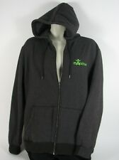Men's ISAGENIX Neon Green Black Gray Hoodie Style Zip Up Sweat Shirt sz L Large