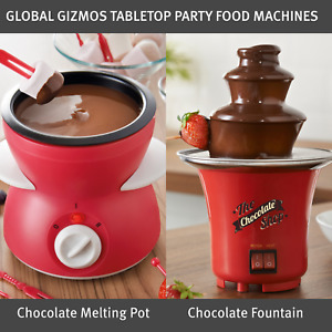 Global Gizmos Tabletop Party Food Machines / Chocolate Fountain Or Melting Pot