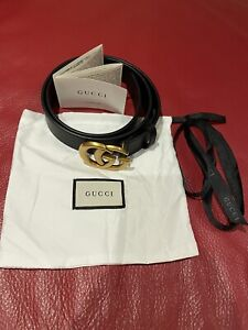 Gucci Womans Leather Belt, 110 Cm, Brand New
