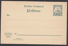 GERMAN SOUTHWEST AFRICA 1900 5pf + 5pf GREEN MESSAGE & REPLY PS CARD  UNUSED