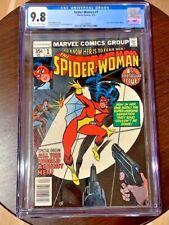 Spider-woman #1 CGC 9.8 WHT ORIGIN 1978 STUNNING TOP GRADED NM+/MINT 1st series