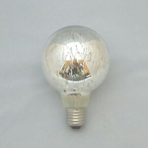 G95 LED 4 Watt Filament 2700K Warm White E27 Silver Sprayed Decorative Retro