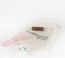 Doobiewood® ø 5,9 mm Slim Size Aktivkohlefilter Holz Mundstück Zebrawood