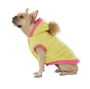 Top Paw Puffer Coat yellow and pink XL dog New NWT