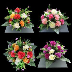 Grave Artificial/silk flower Grave pot arrangement in memorial Crem Pot funeral
