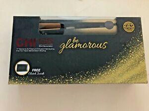 "CHI 1"" GOLD GLITTER BE GLAMOROUS 392° HAIR STRAIGHTENER FLAT IRON Fast Ship"