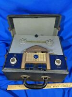 Wilcox Gay Recordio 2A11 Reel to Reel Tape Recorder Player VTG Rare Early Case