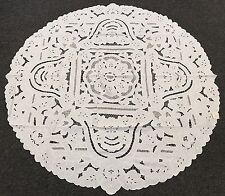 """100% Cotton Full Cutwork Embroidered Lace Embroidery Tablecloth 72"""" Round White"""